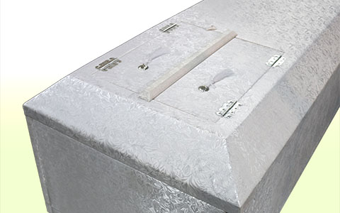 お棺(高級布張り棺)